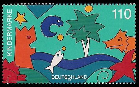 110 Pf Briefmarke: Für uns Kinder, Kindermarke