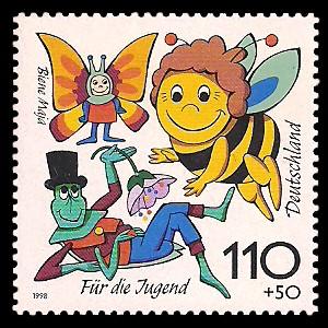 110 + 50 Pf Briefmarke: Für die Jugend 1998, Kinderfernsehen