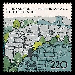 220 Pf Briefmarke: Nationalpark Sächsische Schweiz