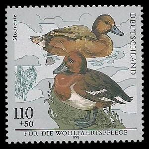 110 + 50 Pf Briefmarke: Wohlfahrtsmarke 1998, Vögel