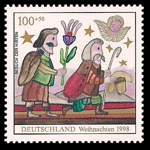 100 + 50 Pf Briefmarke: Weihnachtsmarke 1998