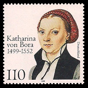 110 Pf Briefmarke: 500. Geburtstag von Katharina von Bora