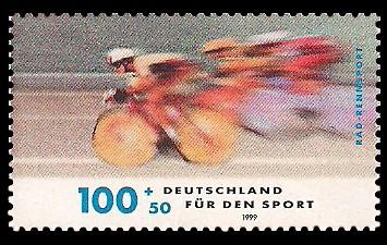 100 + 50 Pf Briefmarke: Für den Sport 1999