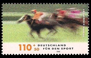 110 + 50 Pf Briefmarke: Für den Sport 1999