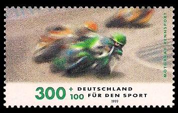 300 + 100 Pf Briefmarke: Für den Sport 1999