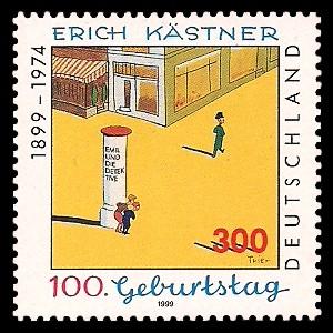 300 Pf Briefmarke: 100. Geburtstag von Erich Kästner