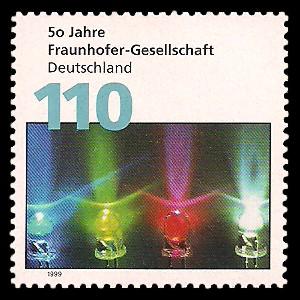 110 Pf Briefmarke: 50 Jahre Fraunhofer-Gesellschaft