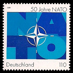 110 Pf Briefmarke: 50 Jahre NATO
