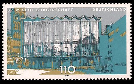 110 Pf Briefmarke: Landesparlamente in Deutschland