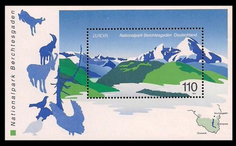 Briefmarke: Blockausgabe: Nationalpark Berchtesgaden, Europamarke