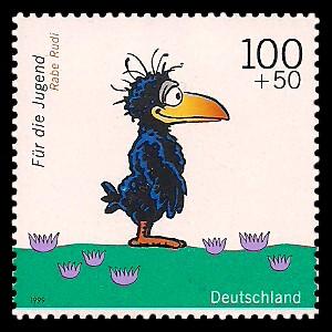 100 + 50 Pf Briefmarke: Für die Jugend 1999, Kinderfernsehen