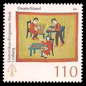 110 Pf Briefmarke: Dominikus-Ringeisen-Werk Ursberg