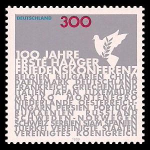 300 Pf Briefmarke: 100 Jahre Erste Haager Friedenskonferenz