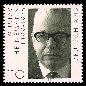 110 Pf Briefmarke: 100. Geburtstag Gustav Heinemann