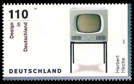 110 Pf Briefmarke: Design in Deutschland