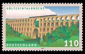 110 Pf Briefmarke: Göltzschtalbrücke