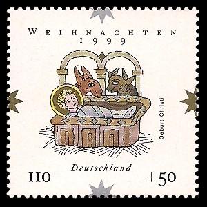 110 + 50 Pf Briefmarke: Weihnachtsmarke 1999