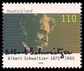 110 Pf Briefmarke: 125. Geburtstag Albert Schweitzer