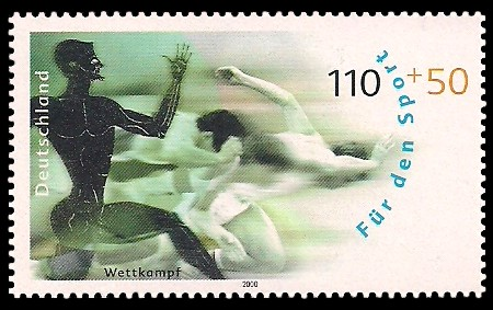 110 + 50 Pf Briefmarke: Für den Sport 2000