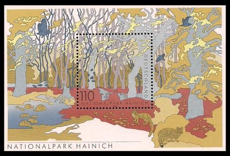 Briefmarke: Blockausgabe: Nationalpark Hainich