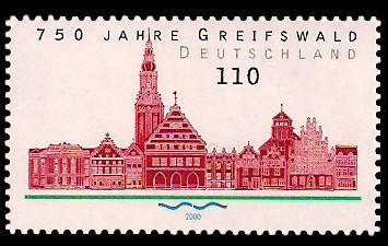 110 Pf Briefmarke: 750 Jahre Greifswald