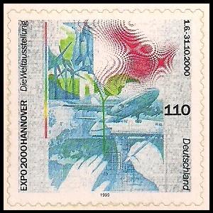 110 Pf Briefmarke: EXPO 2000 Hannover