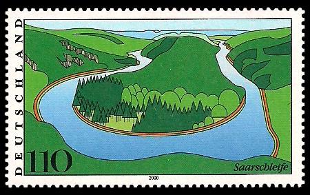 110 Pf Briefmarke: Landschaften in Deutschland