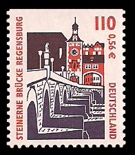110 Pf / 0,56 € Briefmarke: Serie Sehenswürdigkeiten