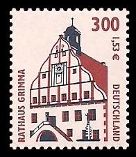 300 Pf / 1,53 € Briefmarke: Serie Sehenswürdigkeiten