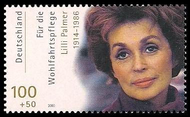 100 + 50 Pf Briefmarke: Wohlfahrtsmarke 2000, Schauspieler