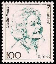 100 Pf / 0,51 € Briefmarke: Frauen der deutschen Geschichte