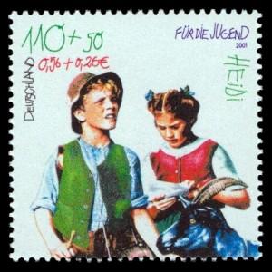 110 + 50 Pf / 0,56 + 0,26 € Briefmarke: Für die Jugend, Heidi
