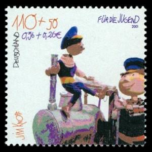 110 + 50 Pf / 0,56 + 0,26 € Briefmarke: Für die Jugend, Jim Knopf