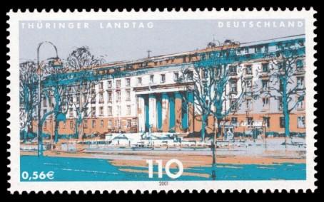 110 Pf / 0,56 € Briefmarke: Landesparlamente in Deutschland