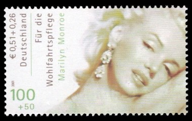 100 + 50 Pf / 0,51 + 0,26 € Briefmarke: Wohlfahrtsmarke 2000, Schauspieler
