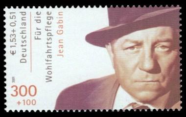300 + 100 Pf / 1,53 + 0,51 € Briefmarke: Wohlfahrtsmarke 2000, Schauspieler
