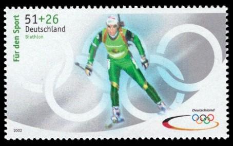 51 + 26 Ct Briefmarke: Für den Sport 2002, Olympische Winterspiele 2002