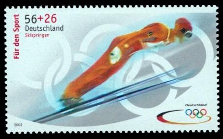 56 + 26 Ct Briefmarke: Für den Sport 2002, Olympische Winterspiele 2002
