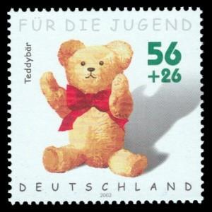 56 + 26 Ct Briefmarke: Für die Jugend 2002, Spielzeug
