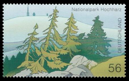 56 Ct Briefmarke: Nationalpark Hochharz