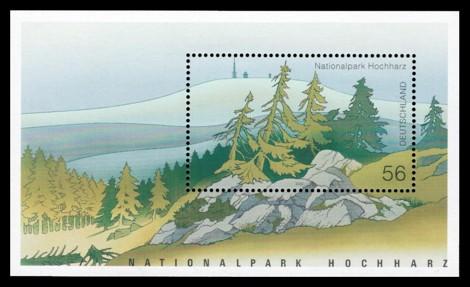 Briefmarke: Blockausgabe: Nationalpark Hochharz