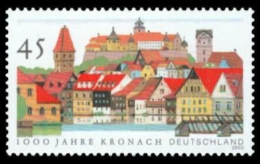 45 Ct Briefmarke: 1000 Jahre Kronach