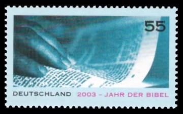 55 Ct Briefmarke: 2003 - Jahr der Bibel