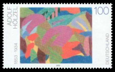 100 Ct Briefmarke: Moderne Gemälde, Adolf Hölzel