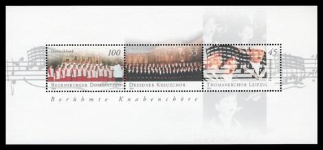 Briefmarke: Blockausgabe Berühmte Knabenchöre in Deutschland