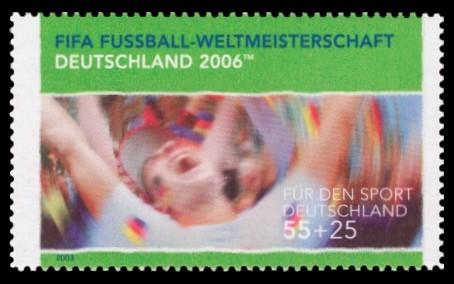 55 + 25 Ct Briefmarke: Für den Sport 2003, Jubel