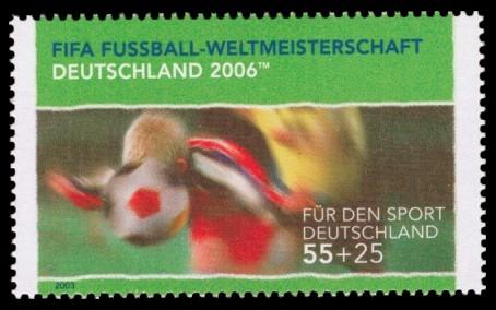 55 + 25 Ct Briefmarke: Für den Sport 2003, Kopfball