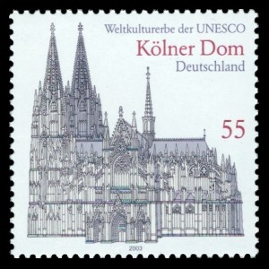 55 Ct Briefmarke: Kölner Dom, Weltkulturerbe der UNESCO
