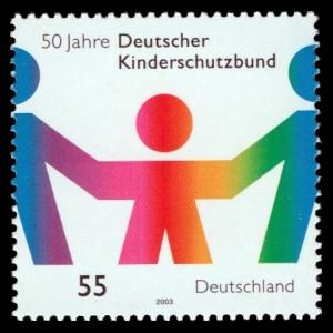 55 Ct Briefmarke: 50 Jahre Deutscher Kinderschutzbund