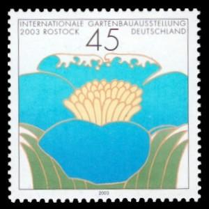 45 Ct Briefmarke: Internationale Gartenbauausstellung 2003 Rostock, IGA